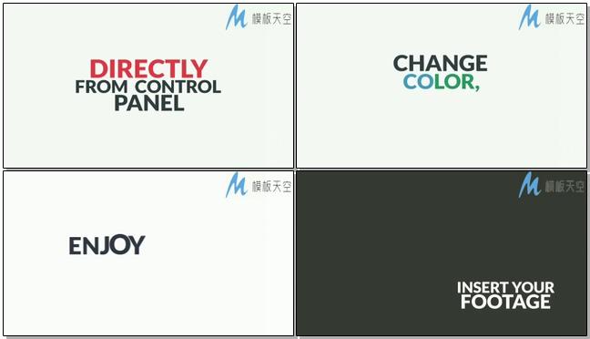 文字标题动画包AE模板