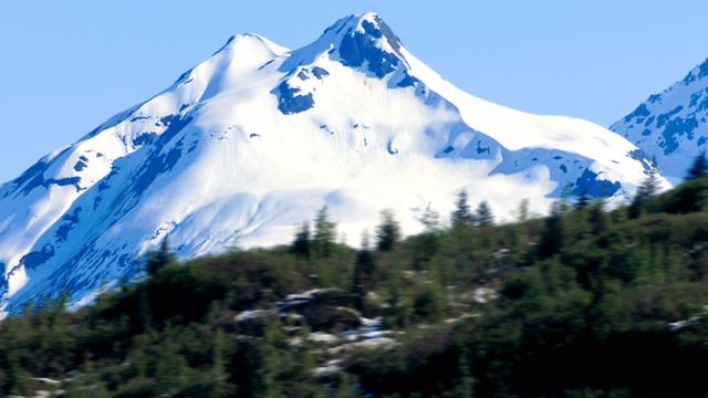 梦幻唯美的冰山全景实拍视频