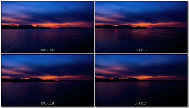 浪漫唯美的落日倒映在海洋中的实拍视频