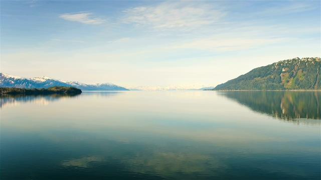 一望无际的阿拉斯加海岸冰川实拍视频