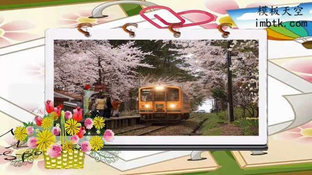 可爱搞笑户外旅游相册之相约樱花X10模板