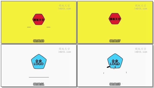 动感创意的MG动画色彩企业宣传的会声会影X9模板