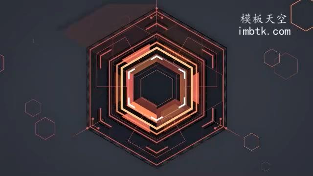 动感震撼的蜂窝状电流企业宣传片的会声会影X9模板