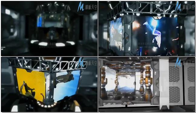 E3D科幻场景模型包AE模板