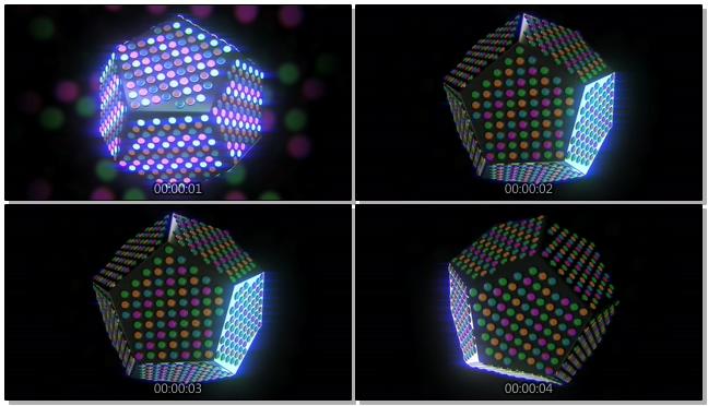 时尚炫酷的多边形灯光闪烁视频素材