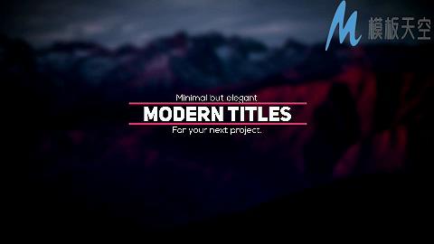 现代风格动画迷你标题AE模板