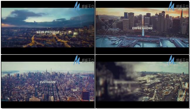 城市数字视频幻灯片AE模板