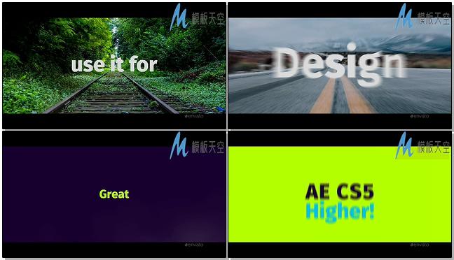 动感文字图片排版AE模板