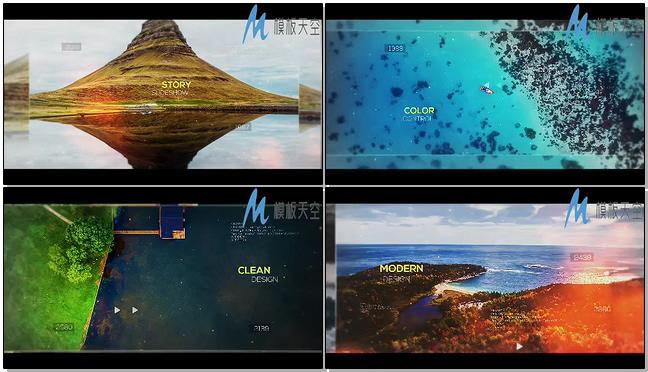 大气震撼数字视频幻灯片AE模板