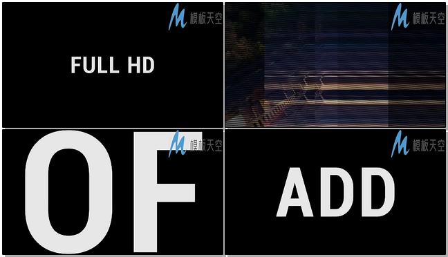 快闪动感文字排版AE模板