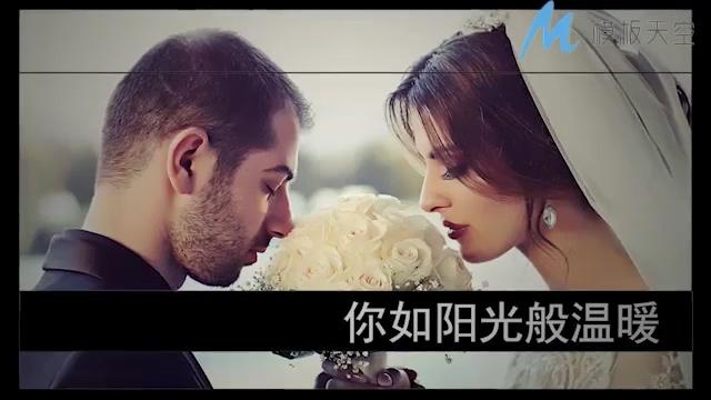 高雅唯美的婚礼相册图文展示PR模板