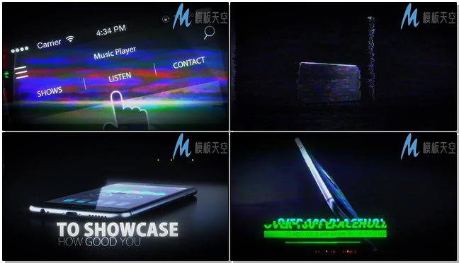故障特效手机应用展示AE模板