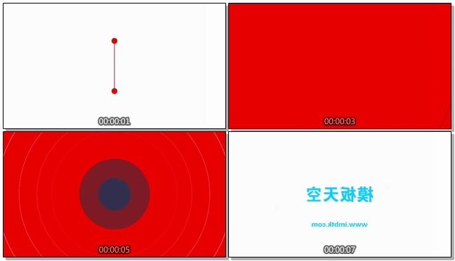 动感创意的卡通时尚logo宣传片头会声会影x9模板
