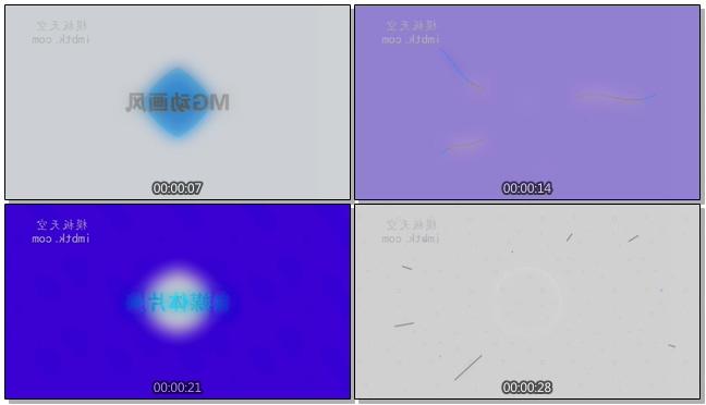 MG动画色彩切换时尚宣传片头会声会影x9模板