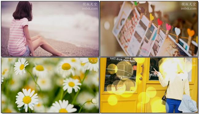文艺小清新时代家居旅行相册视频模板