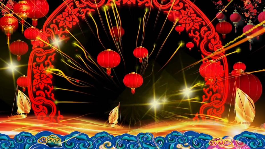 喜庆LED舞台灯笼视频素材