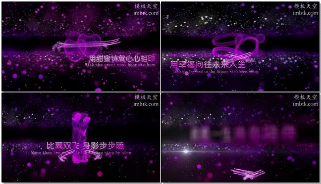 唯美婚礼视频开场之紫色浪漫视频模板