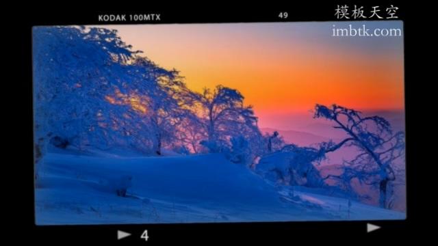 旅游相册照相机效果视频模板