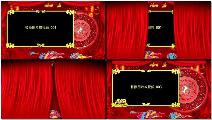 2019年金猪贺岁拜年祝福春节视频AE模板