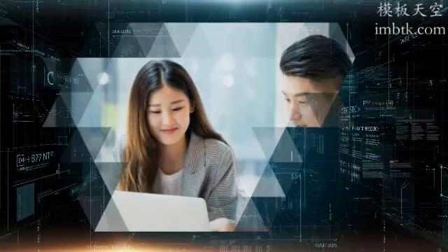 高科技空间感商务宣传视频模板
