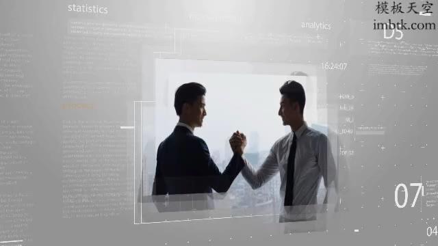 科技视频宣传白色商务展示模板