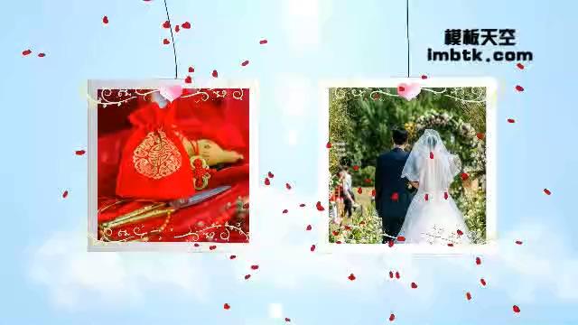 浪漫的婚礼婚纱照视频模板