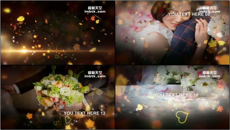 婚礼婚庆相册浪漫枫叶模板