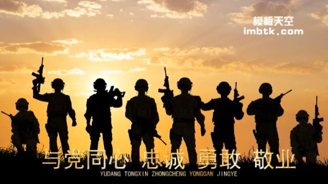 老兵退伍纪念军事宣传视频模板