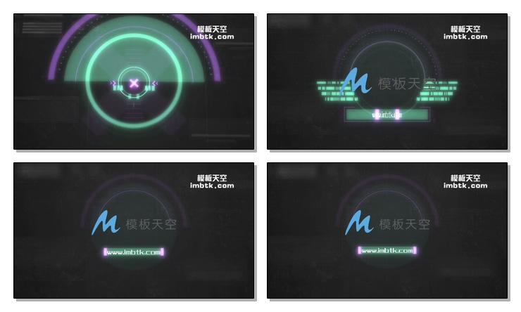 科技感宣传动画片头视频模板