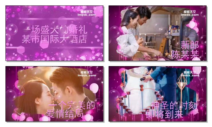 浪漫结婚视频相册会声会影模板