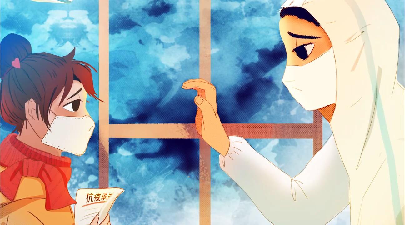 抗击疫情动画-致敬英雄视频素材