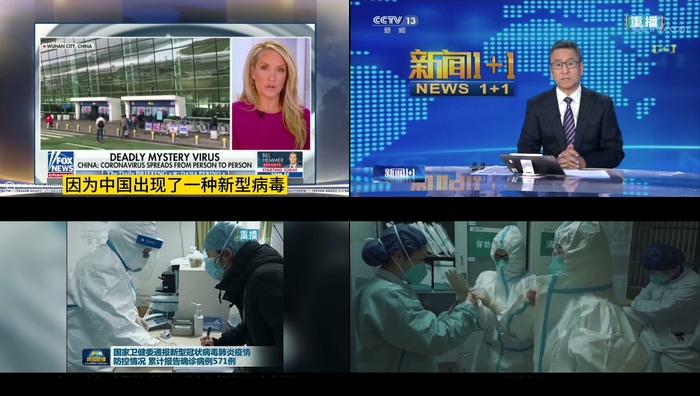 武汉冠状病毒疫情新闻报道专家解说前线医护人员支援视频宣传视频素材