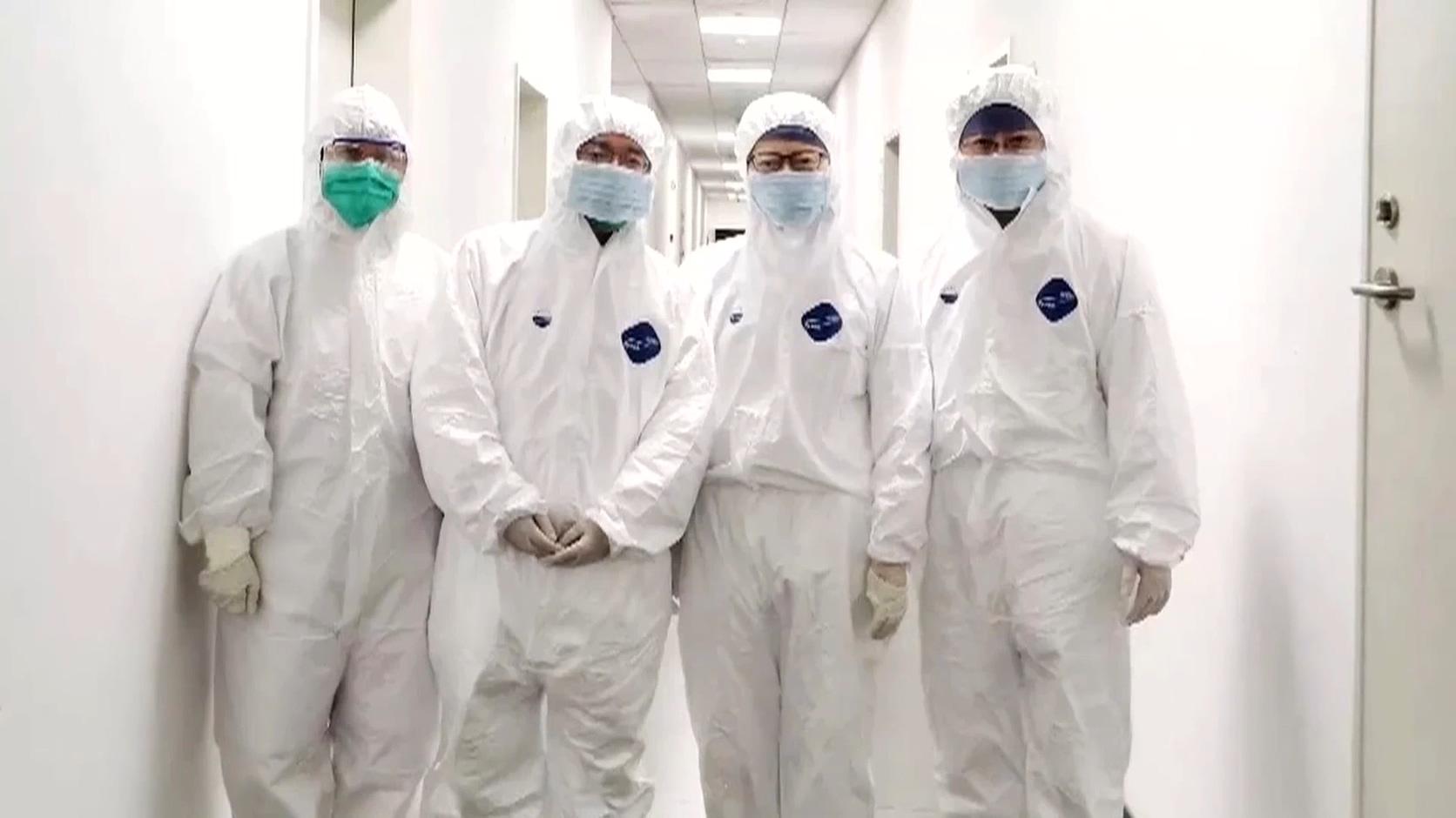 医务人员志愿者支援武汉视频素材
