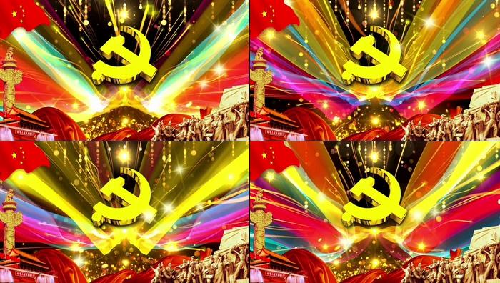 华丽党政开场舞台视频素材