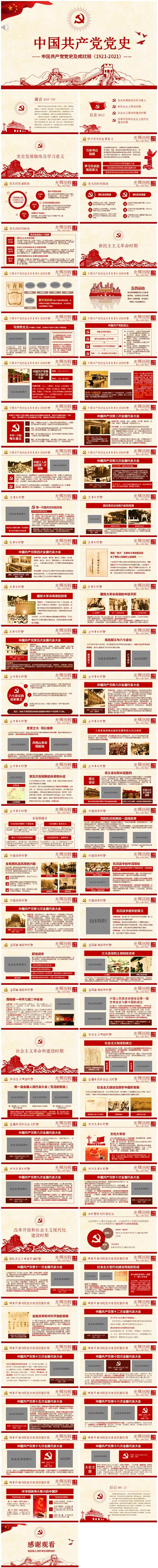中国共产党党史PPT模板