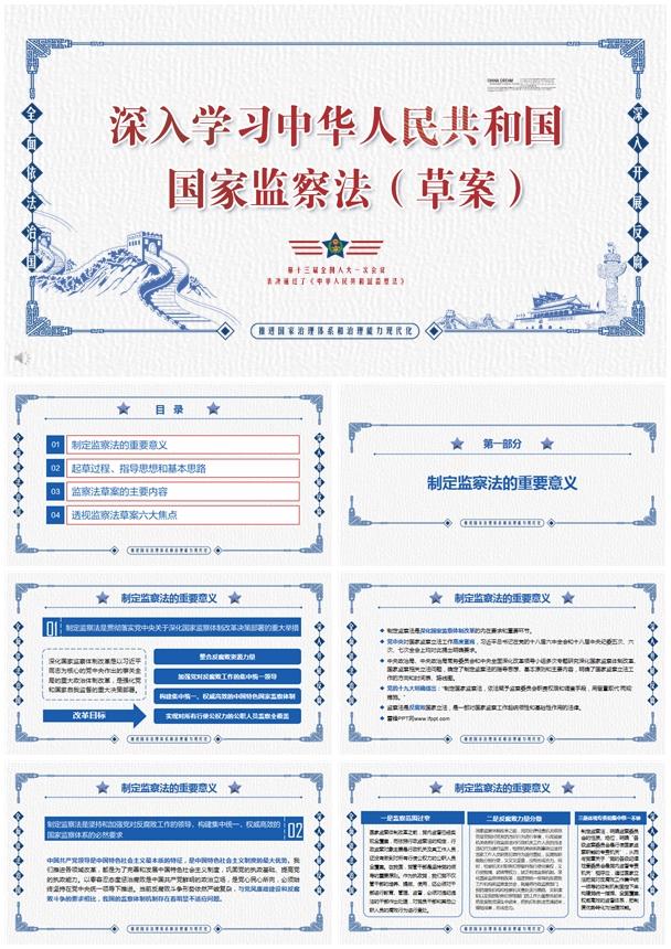 深入学习中华人民共和国国家检查法PPT模板
